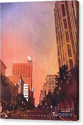 Raleigh Downtown Canvas Print by Ryan Fox