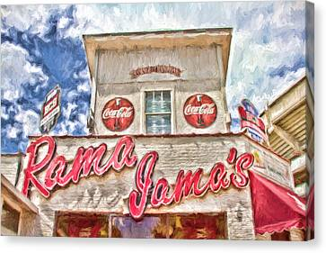 Rama Jama's Canvas Print by Scott Pellegrin
