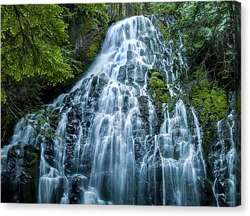 Ramona Falls Cascade Canvas Print