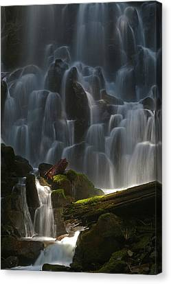Ramona Falls Oregon Canvas Print by Ulrich Burkhalter