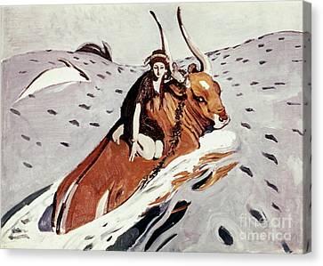 Rape Of Europa Canvas Print by Granger