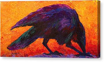 Raven Canvas Print by Marion Rose