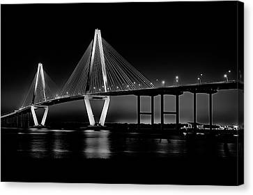 Canvas Print featuring the photograph Ravenel Bridge by Bill Barber