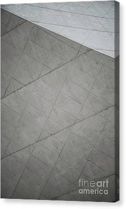 Raw Grey Concrete Abstract Minimal Background Canvas Print