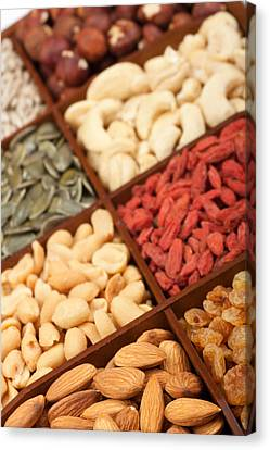 Raw Nuts And Seeds Canvas Print
