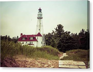 Canvas Print featuring the photograph Rawley Point Lighthouse by Joel Witmeyer