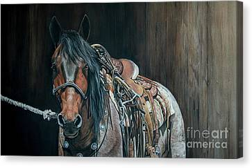 Equine Pastels Canvas Print - Ready And Willing  by Joni Beinborn