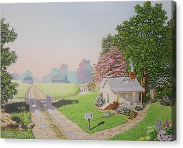 Rebeccas Cottage Canvas Print