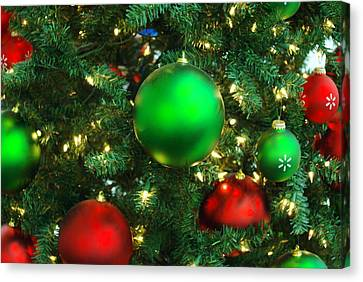Red And Green Holiday Canvas Print by Karen Musick