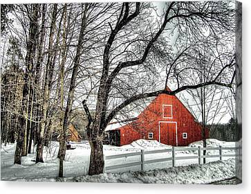 Red And White Canvas Print by Betsy Zimmerli