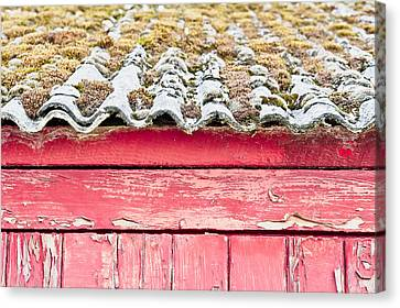 Cabin Wall Canvas Print - Red Cabin by Tom Gowanlock