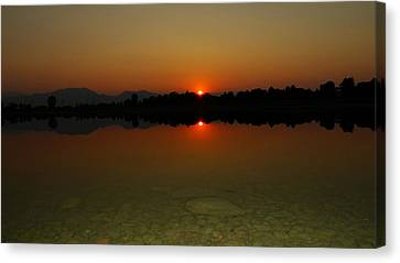 Canvas Print featuring the photograph Red Dawn by Eric Dee