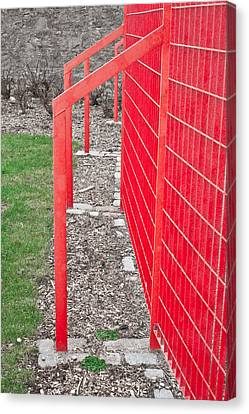 Red Fence Canvas Print