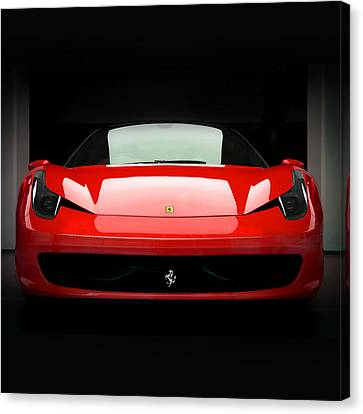 Red Ferrari 458 Canvas Print by Matt Malloy