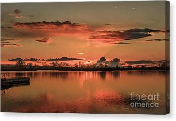 Red Glow Canvas Print by Robert Bales