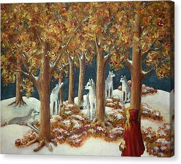 Red Ridinghood Comes Home Canvas Print
