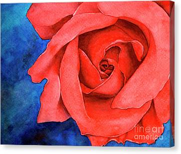 Red Rose Canvas Print by Rebecca Davis