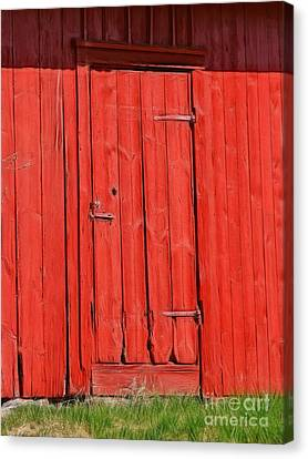 Red Shed Canvas Print by Lutz Baar