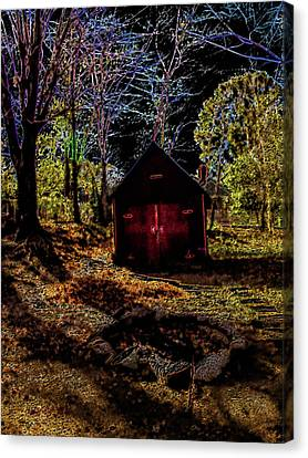 Red Shed Canvas Print by Randy Sylvia