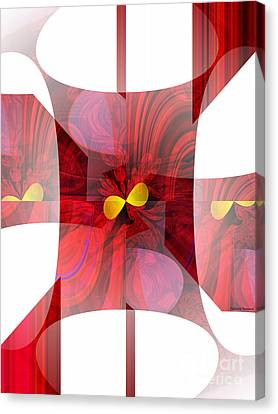 Red Transparency  Canvas Print by Thibault Toussaint
