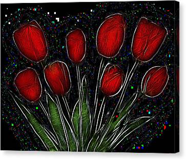 Red Tulips 2 Canvas Print by Alexey Bazhan