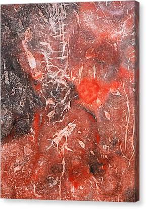 Abstraction Canvas Print - Red Velvet by Sumit Mehndiratta