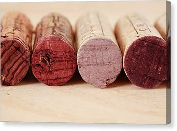 Red Wine Corks Canvas Print