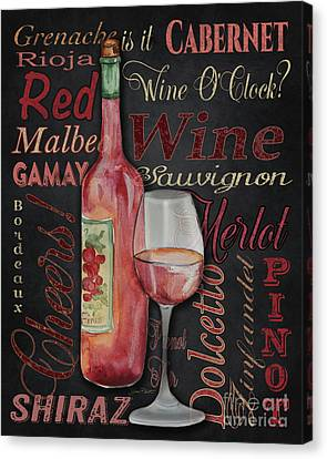 Red Wine-jp3974 Canvas Print by Jean Plout
