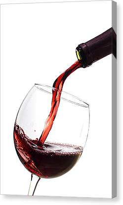 Pouring Wine Canvas Print - Red Wine Poured Into Wineglass by Dustin K Ryan