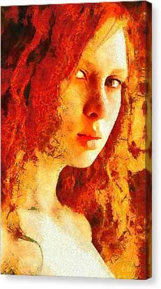 Redhead Canvas Print by Gun Legler