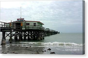 Abstract Seascape Canvas Print - Redington Beach, Florida Fishing Pier by Scott D Van Osdol