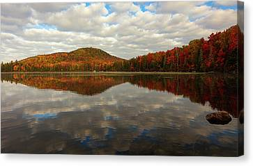 Canvas Print featuring the photograph Autumn Reflections by Mike Lang