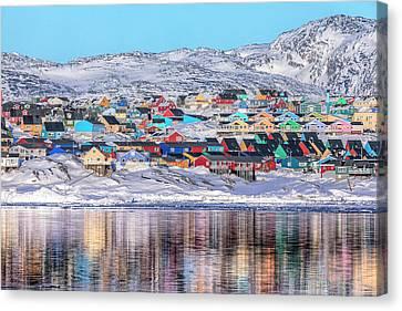reflections of Ilulissat - Greenland Canvas Print by Joana Kruse