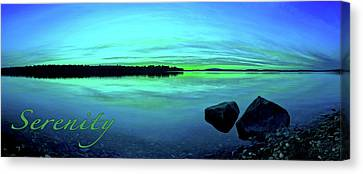 Reflections Of Serenity 2 Canvas Print by ABeautifulSky Photography