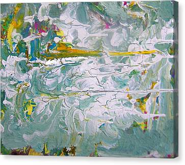 Reflections On The Economy Canvas Print by Judith Redman