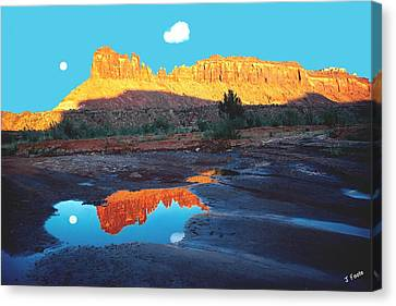 Reflective Intentions Canvas Print by John Foote