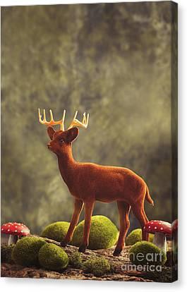 Toadstools Canvas Print - Reindeer Animal Figure by Amanda Elwell