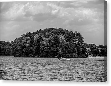 Relaxing On Lake Keowee In South Carolina Canvas Print by Alex Grichenko