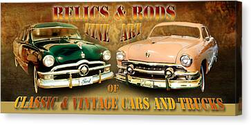 Relics And Rods Canvas Print
