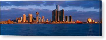 Renaissance Center, Detroit, Sunrise Canvas Print