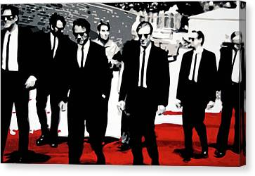 Reservoir Dogs Canvas Print by Luis Ludzska