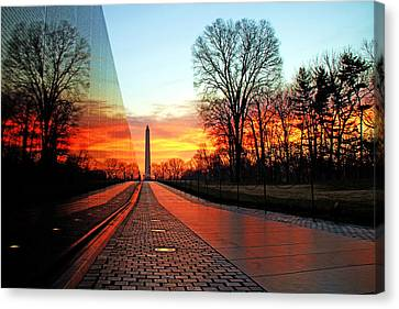 The White House Canvas Print - Resolve by Mitch Cat