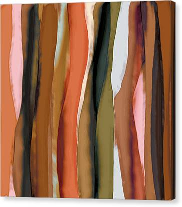 Canvas Print featuring the painting Ribbons by Bonnie Bruno