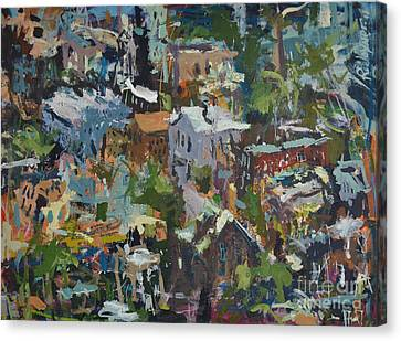 Richmond Virginia Cityscape Painting Canvas Print by Robert Joyner