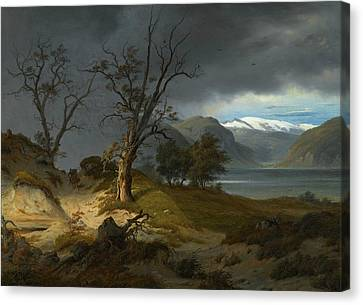 Fearnley Canvas Print - Rider In A Landscape by Thomas Fearnley