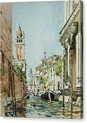 Rio Di San Barnaba, Venice Canvas Print