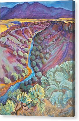 Rio Grande In September Canvas Print by Gina Grundemann