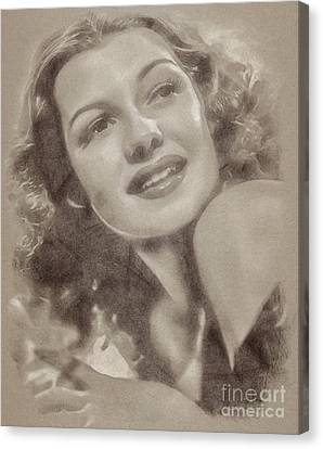 Rita Hayworth Vintage Hollywood Actress Canvas Print by John Springfield