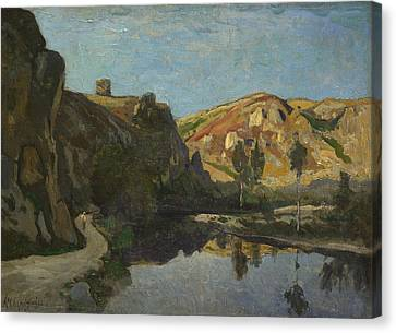 Seaside Heights Canvas Print - River And Hills by Henri-Joseph Harpignies