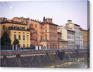 River In Florence Canvas Print by Andre Goncalves